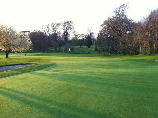 The immaculate greens at Gogarburn Golf Club