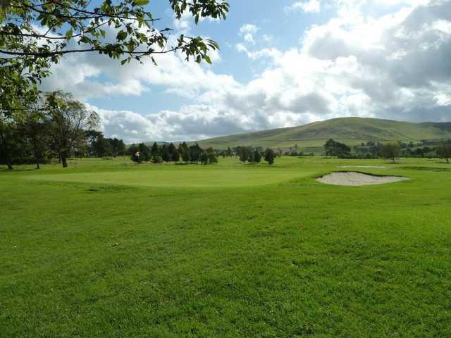 View of the finishing hole at Biggar Golf Club