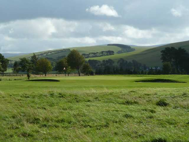 Abundance of rough around the 17th green at Biggar Golf Club
