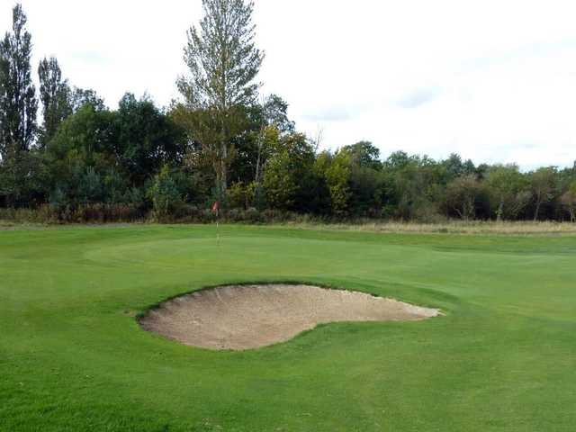 Well placed bunker on the 4th for wayward approaches