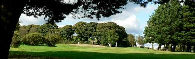 Looking through the trees on the 10th at West Bradford Golf Club