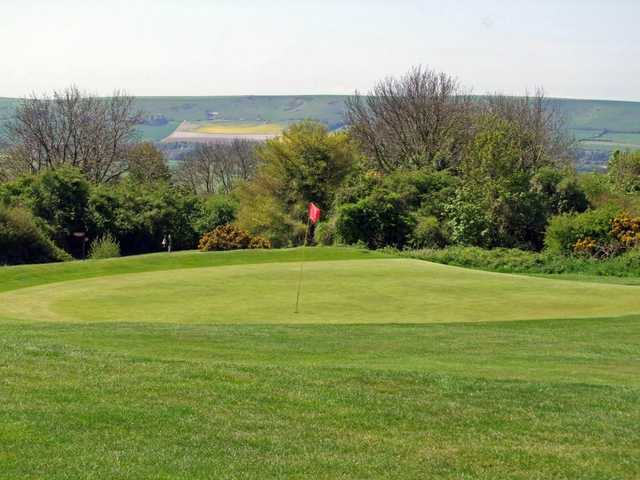 The magnificent views from the 11th green at Lewes Golf Club.