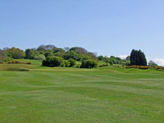 The undulating terrain as seen at the 2nd hole at Lewes Golf Club.