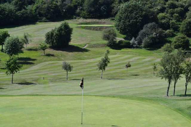 View from behind 9th green at Wrekin Golf Club