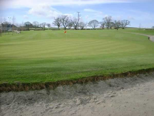 Large bunker protecting the green at Silver Birch