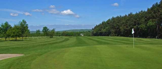 Great conditions on the 3rd green at Percy Wood Golf & Country Park