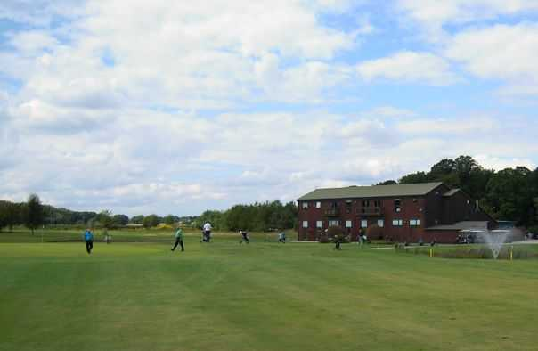 Mersey Valley's clubhouse overlooking the course