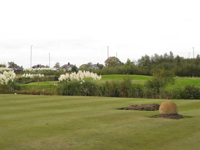 Scenic view of the 18th and putting green at the Berrington Hall Golf & Country Club