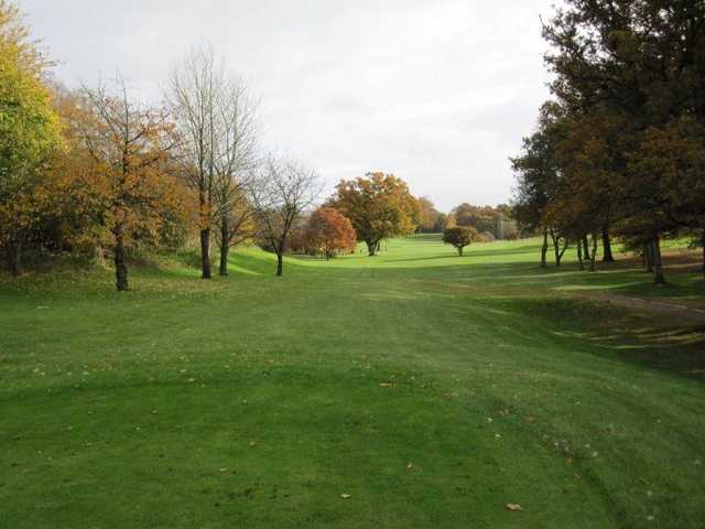 A view from the 11th tee Alresford Golf Club.