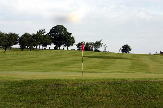 Branshaw GC: View from behind the green back up the fairway