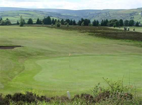 Branshaw GC: The undulating fairway leading to a raised green