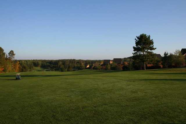 The 18th fairway of the Whitebirch Golf Couse in late September