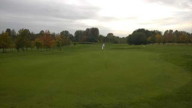 The 18th green at Malkins Bank Golf Club