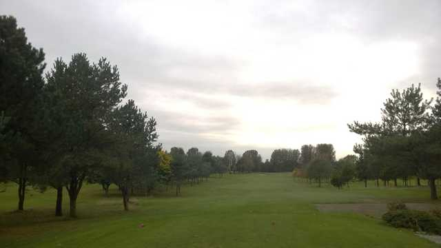 The 10th approach at Malkins Bank Golf Club