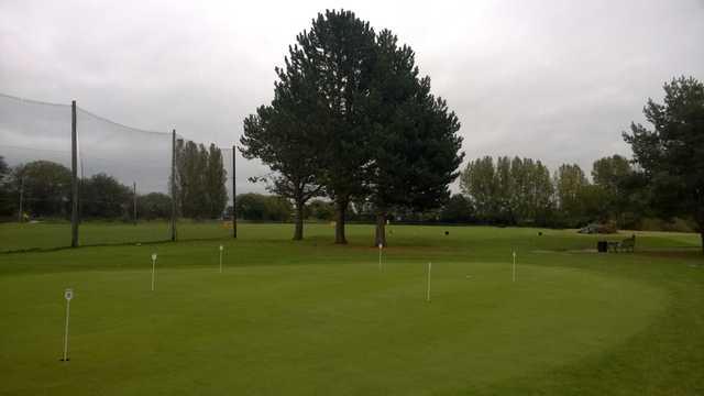 The Putting green at Malkins Bank Golf Club