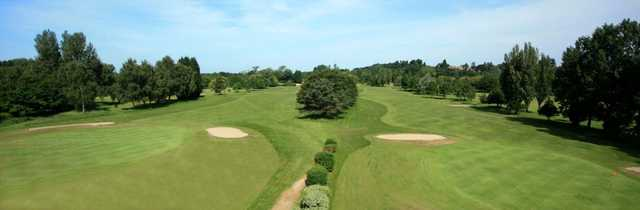 Downshire Golf Complex panoramic view down the 9th and 18th holes