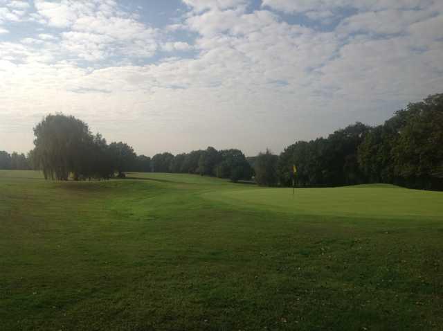 The 18th green at Crews Hill Golf Club