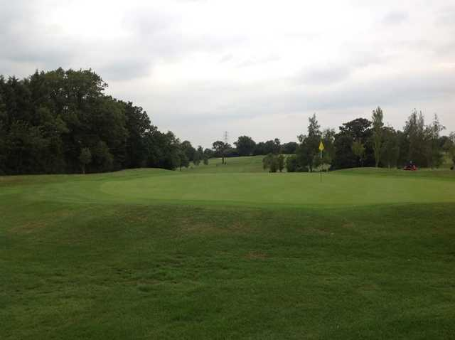 A view of the 16th green at Grims Dyke Golf Club