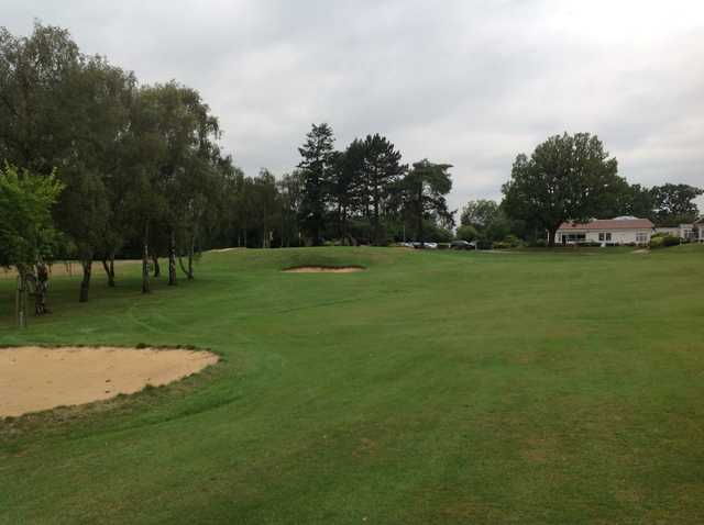 The approach to the 18th at Grims Dyke Golf Club