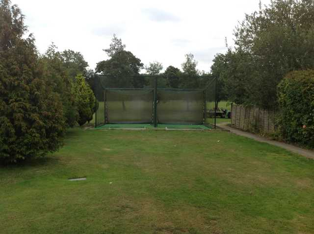 The practice nets at Grims Dyke Golf Club