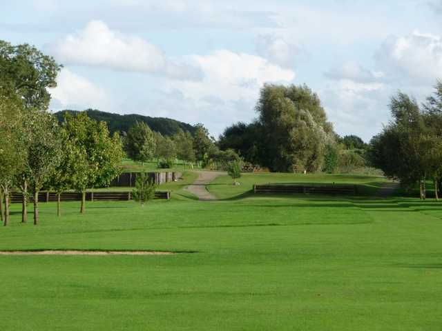 Looking back up towards the tee at Six Hills GC