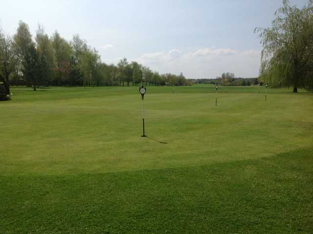 Looking down the fairways at Six Hills