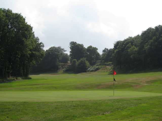 A view of the 18th green at Greenway Hall Golf Club