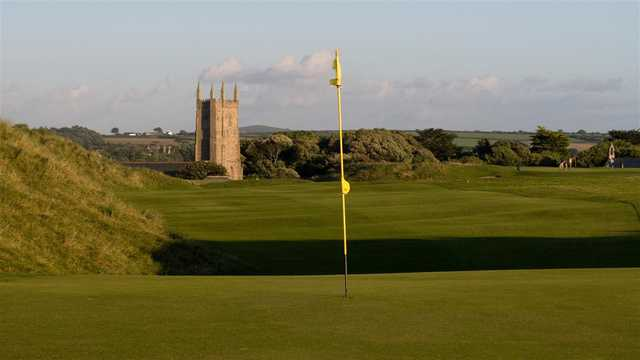 Fast links-greens at West Cornwall Golf Club