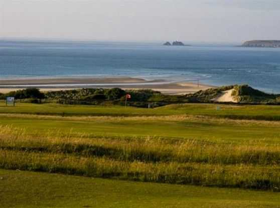 West Cornwall Golf Club: View of the coast from the course