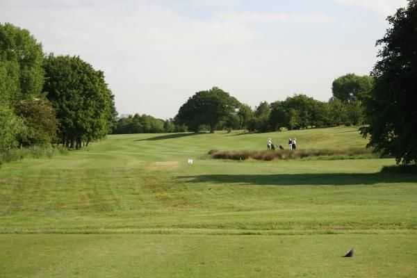The 4th hole from the tee at Helsby Golf Course