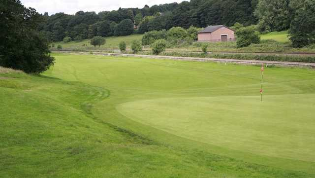 The signature green at Deane Golf Club