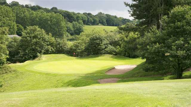 The undulating fairway at Deane Golf Club