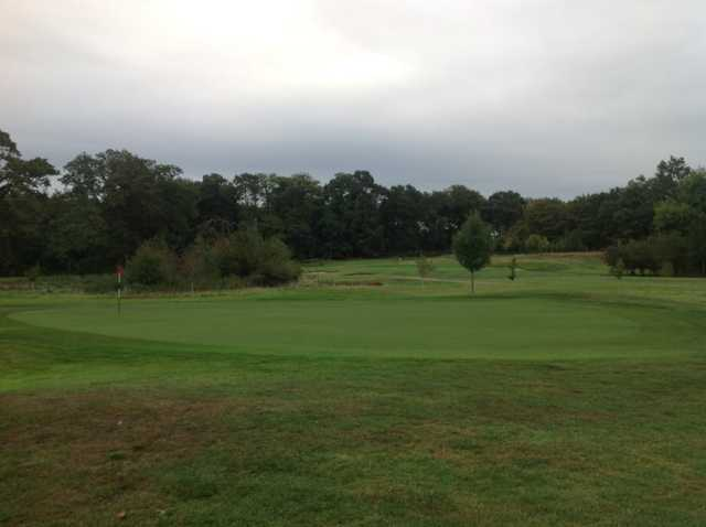 View of 9th green and surrounding scenery at Royal Ascot Golf Club