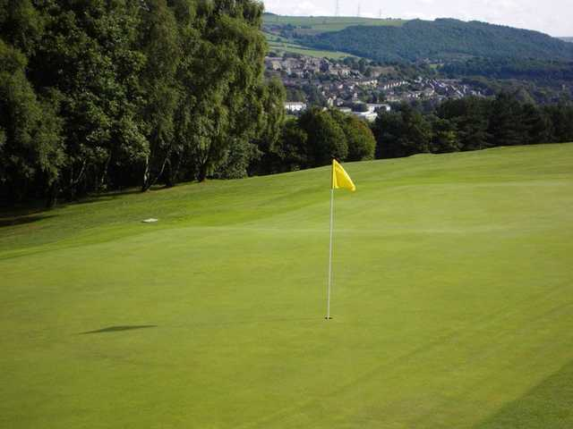 On the 3rd green at Halifax Bradley Hall