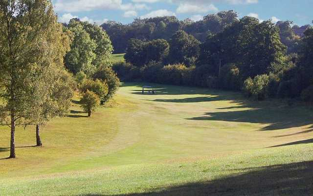 The sloping 12th fairway at Reading golf course can rectify wide shots