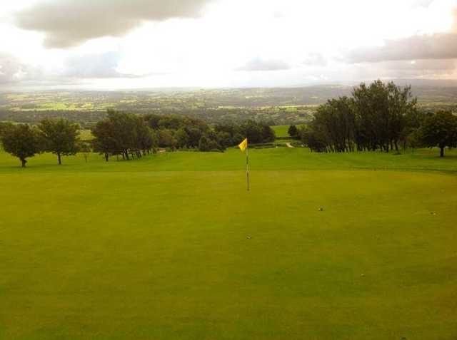 Great view of the putting surface at Longridge Golf Club