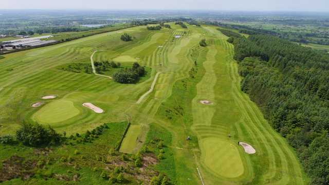 Aerial view of the course and countryside at Longridge Golf Club