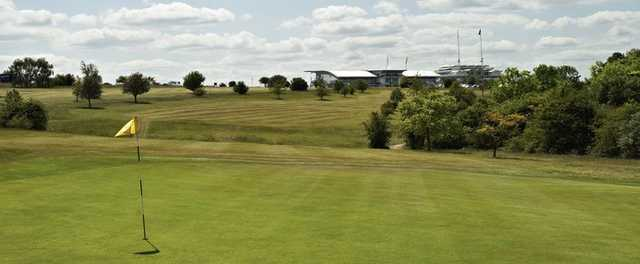 The sloping 6th green at Epsom