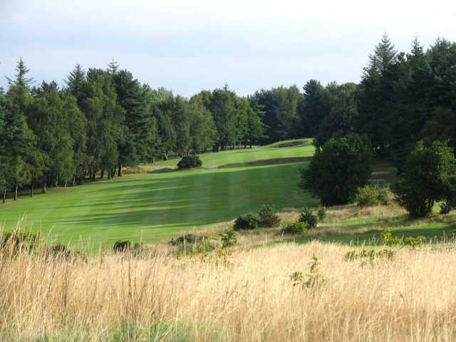 View over the rough of the uphill fairway at Headingley GC