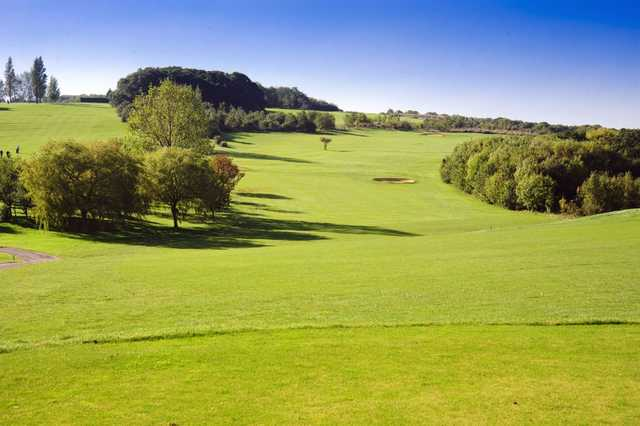 A view over the 2nd hole from the tee as seen at Chestfield Golf Club.