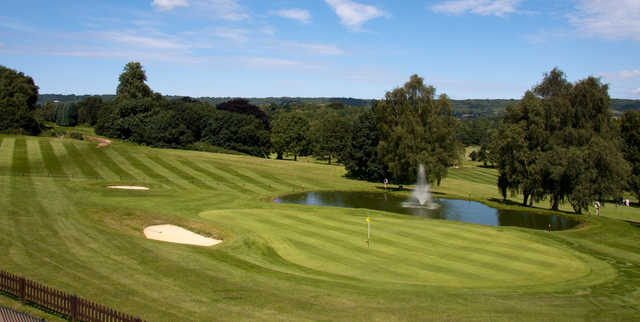 Breathtaking views await you on the 18th green of the Spitfire course at West Malling