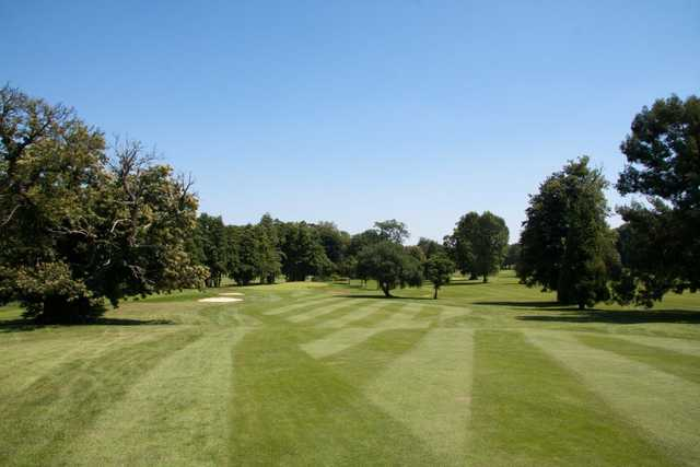 A view down the first on the Hurricane Course at West Malling