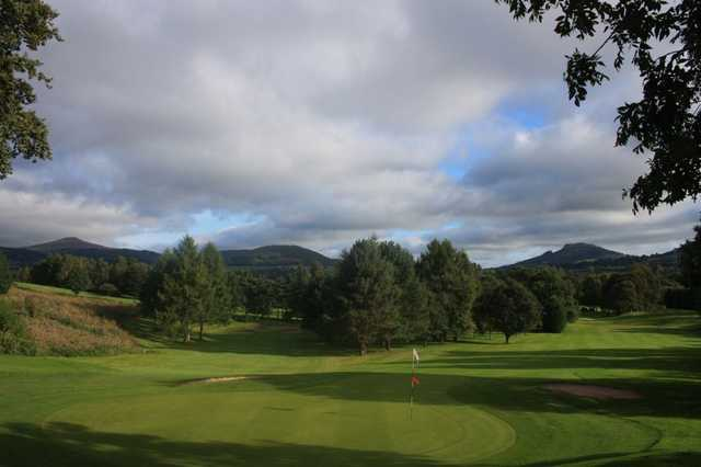 A view down a fairway at Monmouthshire