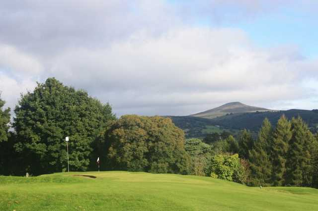 Views of the Blorenge, Sugar Loaf and Skirrid Mountains can be seen from this course