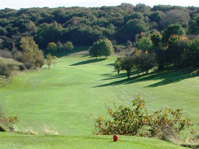 Views from the 9th tee at Pyecombe Golf Course
