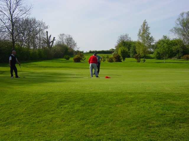 The 15th green at Kettering GC