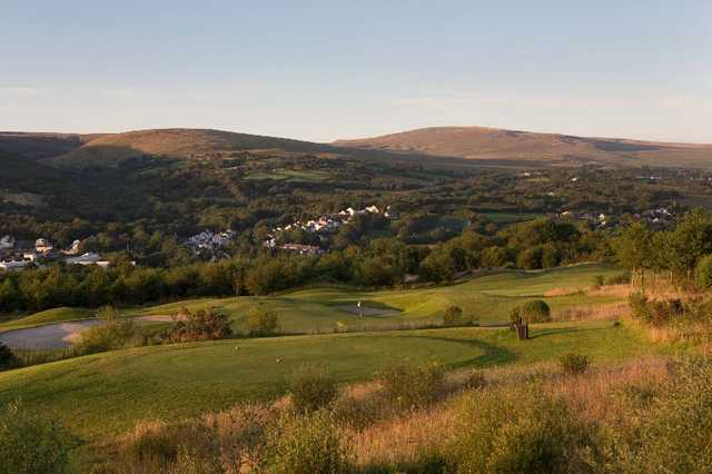 The spectacular vista surrounding Garnant Golf Course