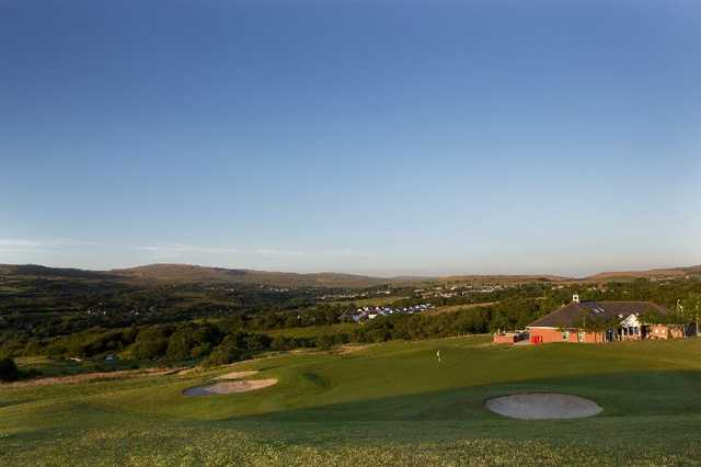 The clubhouse with views of the course at Garnant