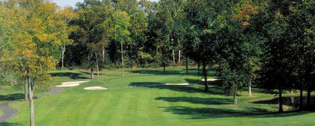 A view of the 15th hole at Fox Hollow Golf Course