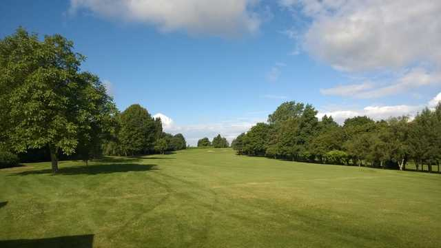A view of the 1st fairway at Filton Golf Club